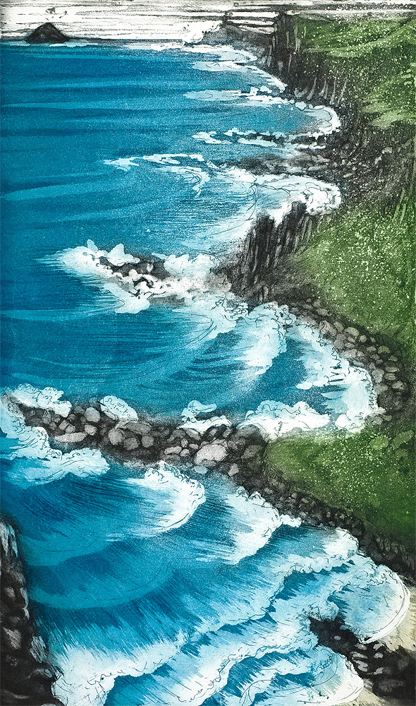 'Cape Cornwall Coast' by Morna Rhys