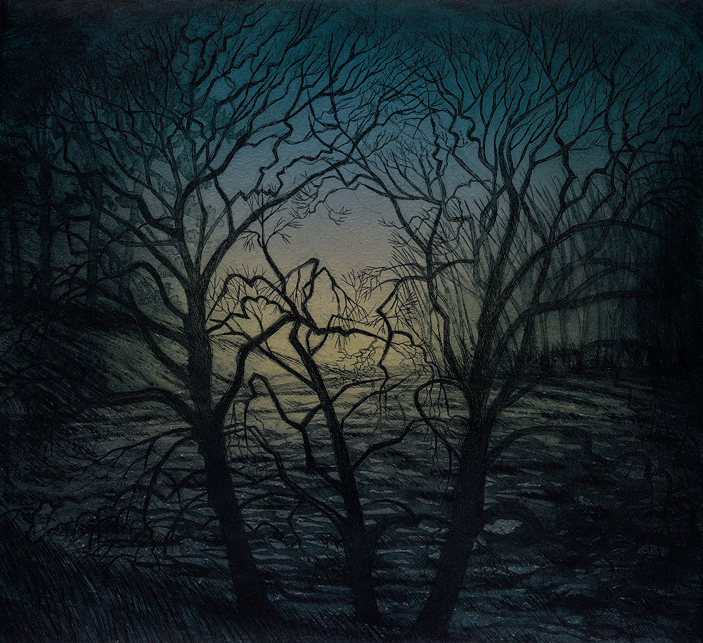 'Gathering Dusk' by Morna Rhys