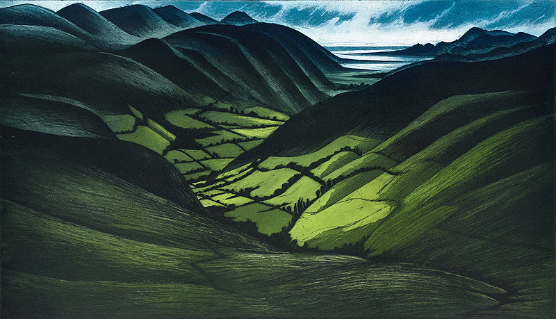 'The Valley of Afon Cadair' by Morna Rhys